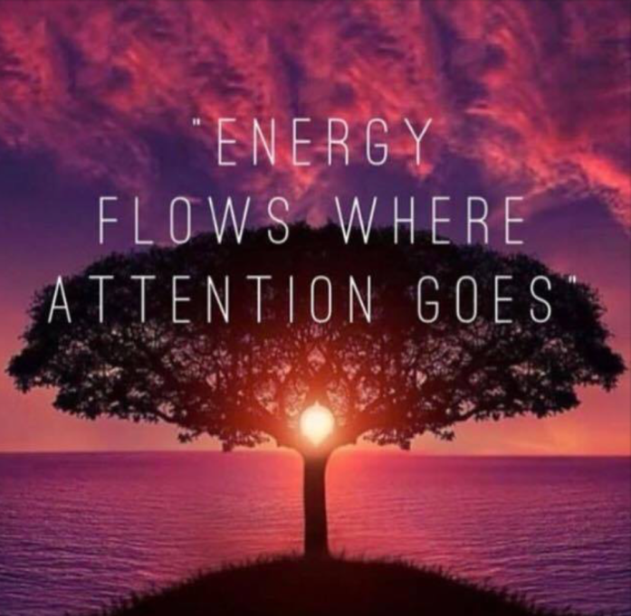 E flows where attention goes